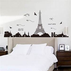 2018 latest paris themed stickers for Beautiful paris themed wall decals