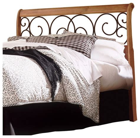 Ledelle Sleigh Bed by Dunhill Sleigh Headboard With Autumn Brown Swirling