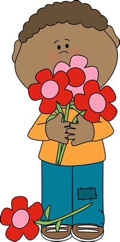 boy holding valentine bouquet clip art boy holding