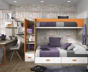 Chambre ado compose dun lit superpose dun bureau et des for Tapis chambre ado avec alese matelas jetable