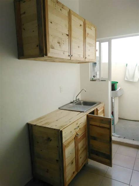 kitchen wholly   recycled pallets  pallets