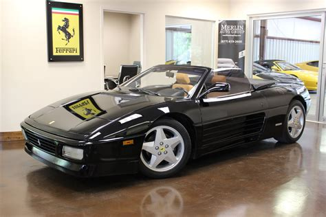 ferrari  spider black convertible   manual