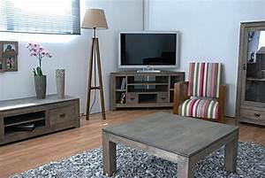 Meuble Tele Gris : meuble tv d 39 angle quixa encombrement minimum ~ Teatrodelosmanantiales.com Idées de Décoration