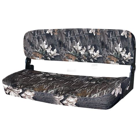 Boat Bench Seat by Wise 174 Folding Duck Boat Bench Seat Mossy Oak Up
