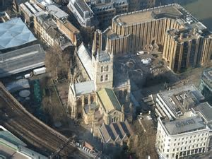 Southwark Cathedral from The Shard © Rob Farrow