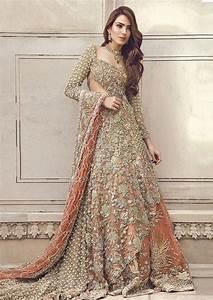 pakistani bridal dresses peach back trail maxi lehenga With pakistani designer wedding dresses