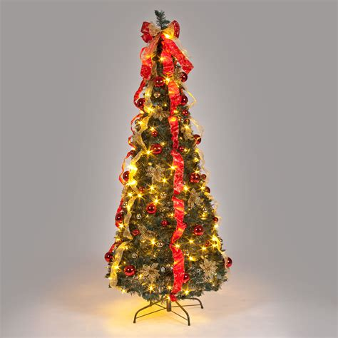 pop up christmas trees with lights white tree 6ft find it for less