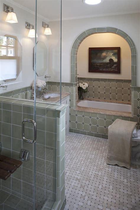 bathroom alcove ideas tremendous basketweave tile decorating ideas