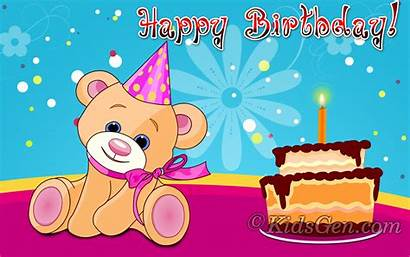 Birthday Wallpapers Cake Happy Backgrounds Background Screensavers