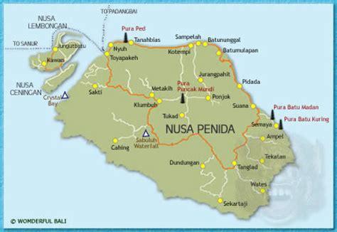 nusa penida map wonderful bali