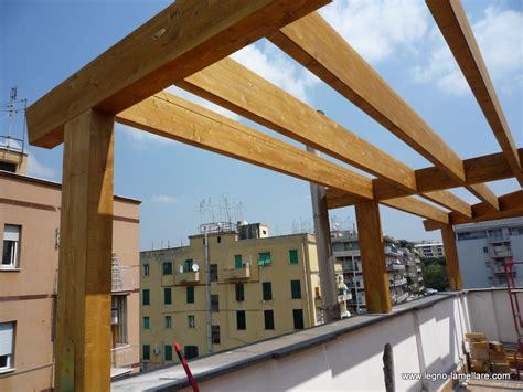 tettoia legno lamellare frangisole per abitazione privata roma lazio