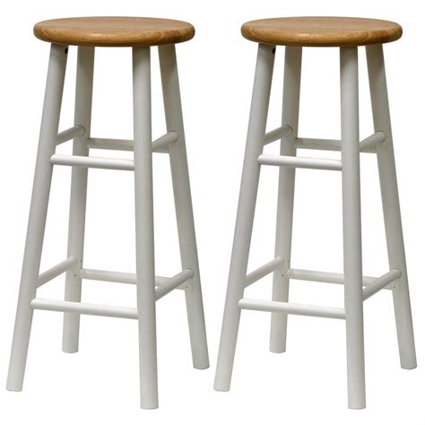 White Wooden Bar Stools With Backs by White Wood Bar Stools Homesfeed