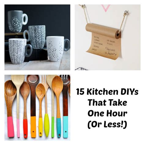 easy kitchen diy one hour kitchen projects