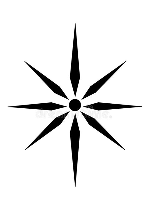 Photo about A Tribal star star tattoo. - All Tattoos For-Men