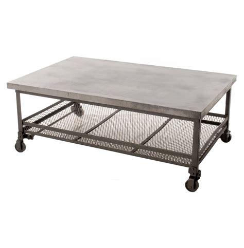 industrial metal coffee table urban mercantile galvanized steel industrial coffee table