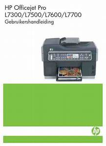 Hp Hp Officejet Pro L7600 Printer Download Manual For Free
