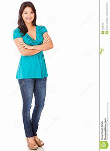 Casual Woman Standing Stock Photos - Image: 24425393