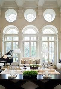 Living Room with Round Windows