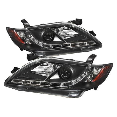 Toyota Camry Headlights by 07 09 Toyota Camry Led Drl Projector Headlights Black