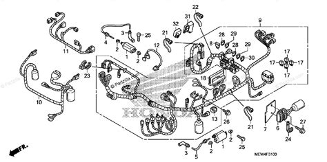 honda motorcycle 2010 oem parts diagram for wire harness ignition coil partzilla
