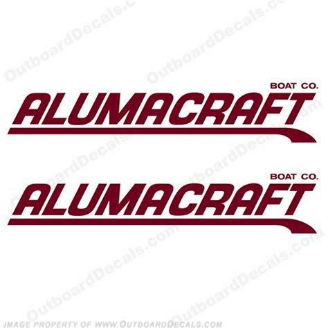Alumaweld Boat Decals by Alumacraft Boat Logo Decals Style 3 Set Of 2