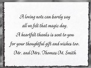 how to find the right wording for wedding thank you cards With thanks for wedding invitation quotes