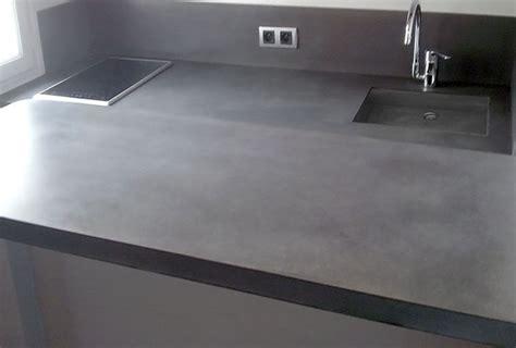 beton cuisine plan de travail cuisine beton cire