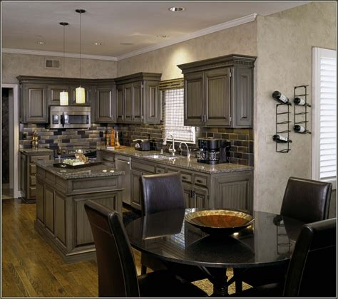 Pickled Oak Cabinets Updated pickled oak cabinets wall color home design ideas
