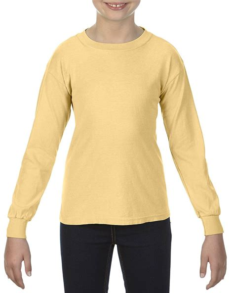 comfort colors butter comfort colors c3483 youth garment dyed t shirt