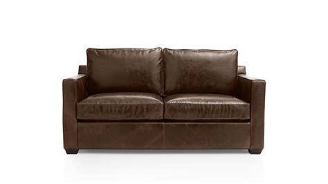Davis Sleeper Sofa by Davis Leather Sleeper Sofa Cashew Crate And Barrel