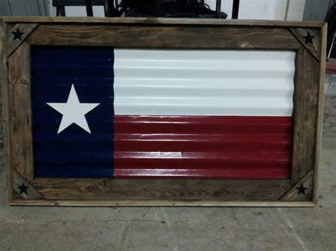 texas flag     tin   fencing material