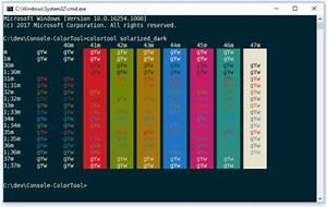 Microsoft Released Windows Console Colortool