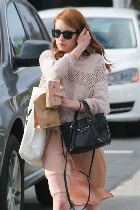 Emma Roberts Casual Style - Out in West Hollywood 5/14 ...