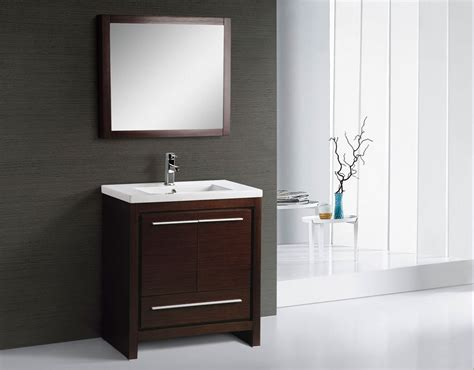 Alexa 30 Inch Modern Bathroom Vanity Espresso Finish