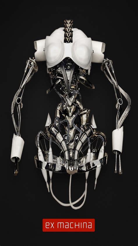 machina  poster robot skeleton iphone   hd