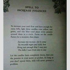 Spell To Increase Finances  Something Wiccan This Way Comes  Pinterest  Spelling, Witchcraft