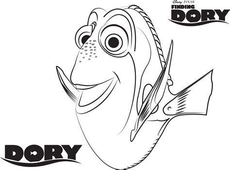 New Printable Disney Coloring Pages Dory Design