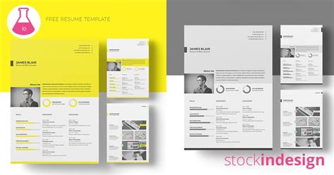 resume template  indesign templates