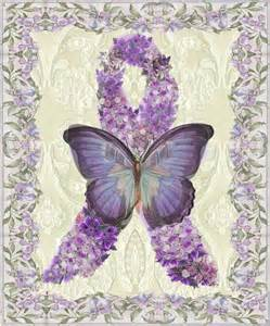 Fibromyalgia Purple Ribbon and Butterfly