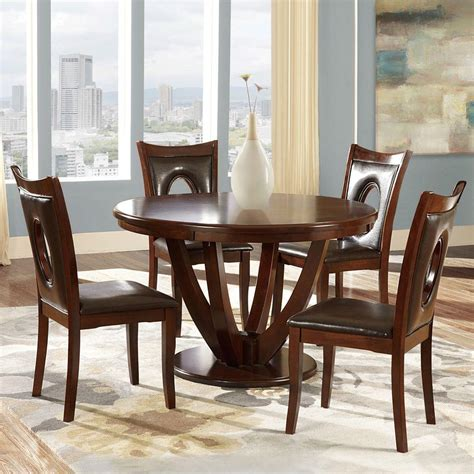 Cherry Dining Room Set by Homesullivan 5 Antique White And Cherry Dining Set