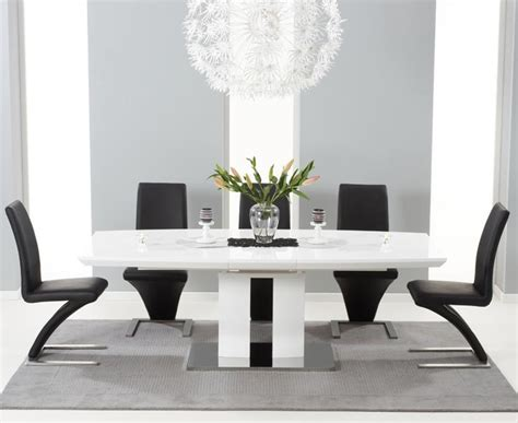 inspirations black gloss dining room furniture dining