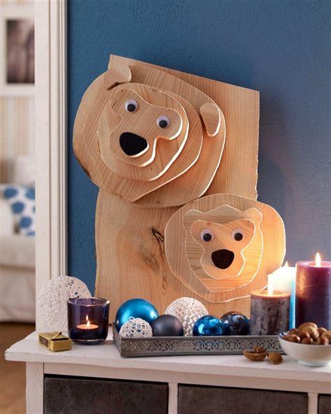 Bastelideen Fuer Idock Aus Holz by Diy Weihnachts B 228 Ren Dekoration Aus Holz Creadoo