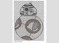 Grille gratuite Star Wars BB8 Cross stitch Pinterest