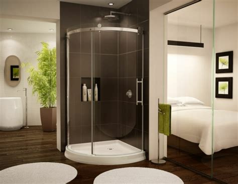 chambre idee deco chambre de luxe salle de bain moderne cabine verre