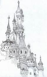 Castle Drawing Coloring Pages Drawings Pencil Tumblr Colouring Castles sketch template