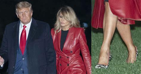 melania trump campaigns  loeffler  perdue  red coat