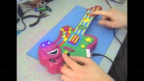 Circuit Bent Barney Toy Guitar Freeform Delusion Youtube