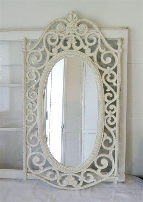shabby chic antiques shabby chic antique white ornate wall mirror ornate wood frame home decor paris apt chic