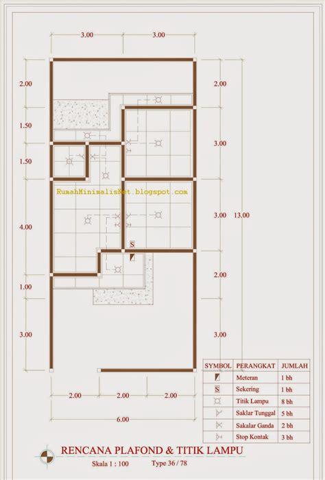 contoh denah rumah minimalis type   solusi hunian