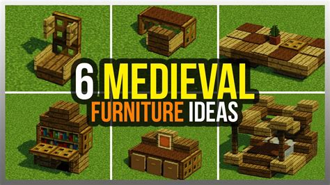 medieval furniture ideas minecraft youtube